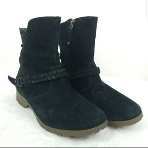 Teva De La Vina Black Suede Ankle Boots Sz 8.5